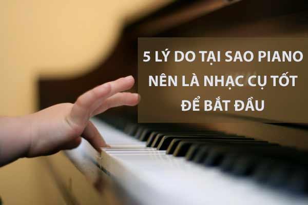 học đàn piano cho người mới bắt đầu