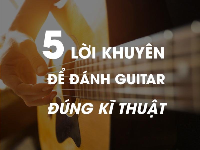 cách học đánh đàn guitar