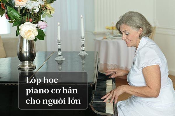 lớp học piano cho người lớn